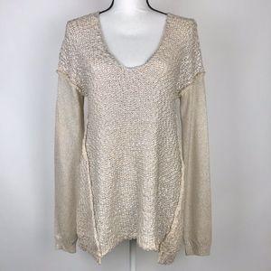Rebecca Taylor Metallic Heavy Knit Sweater Medium